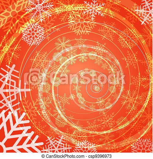 backgroun, nieve, espiral, tormenta, invierno - csp9396973