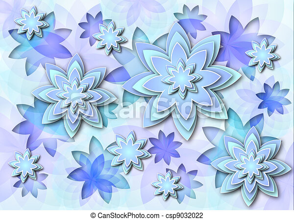 Background Abstract Lotus Flowers Illustration Floral Background