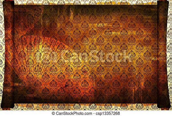 background aged oriental - csp13357268