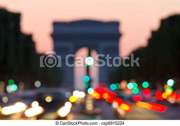 background: Arc de Triomphe, Paris - csp6915224