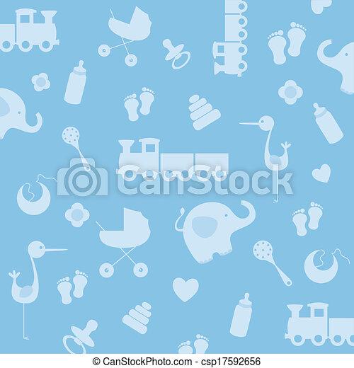 Background baby boy - csp17592656
