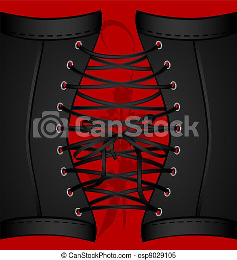 background black corset - csp9029105