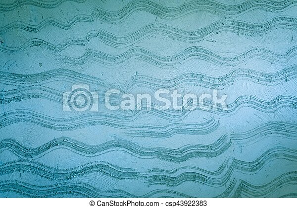 Background blue cement wall texture. - csp43922383