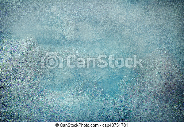 background blue transparent ice with a vignetting - csp43751781