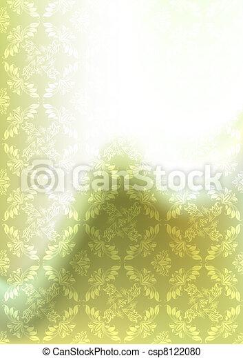 Background blur, ornament backdrop green, gradient mesh - csp8122080