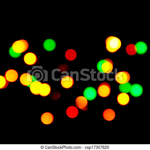 Background - Blurry coloured lights - csp17307620