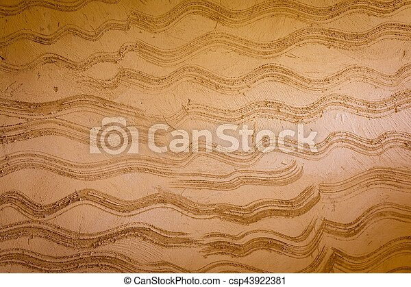 Background brown cement wall texture. - csp43922381