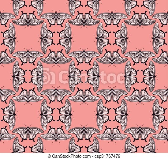 Background Butterfly Pattern - csp31767479