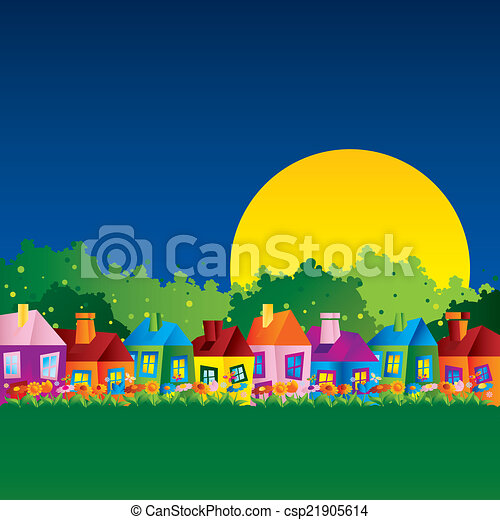Background caricature house - csp21905614