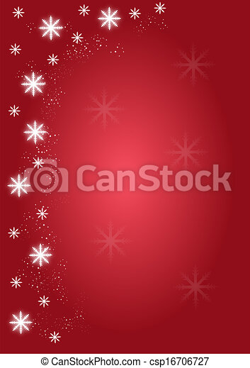 Background Christmas snowflakes red - csp16706727