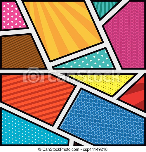 Background Colorful Abstract In Pop Art With Shapes