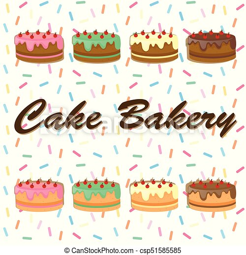 Background desing with cakes - csp51585585