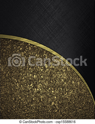 design template background divided into black and gold texture