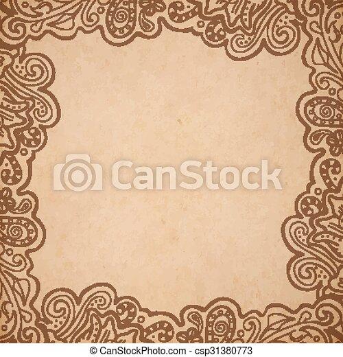 Background floral frame - csp31380773