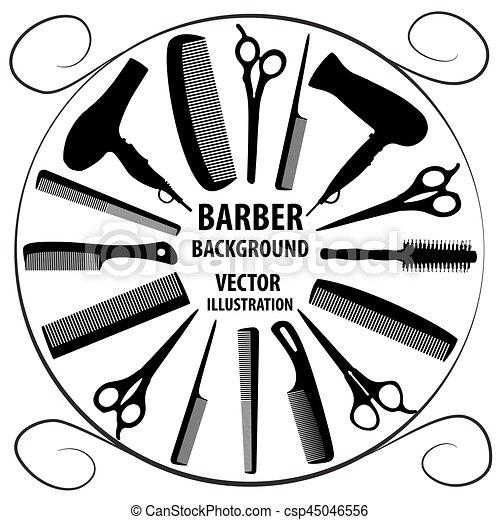 Background For Barber And Hairdresser