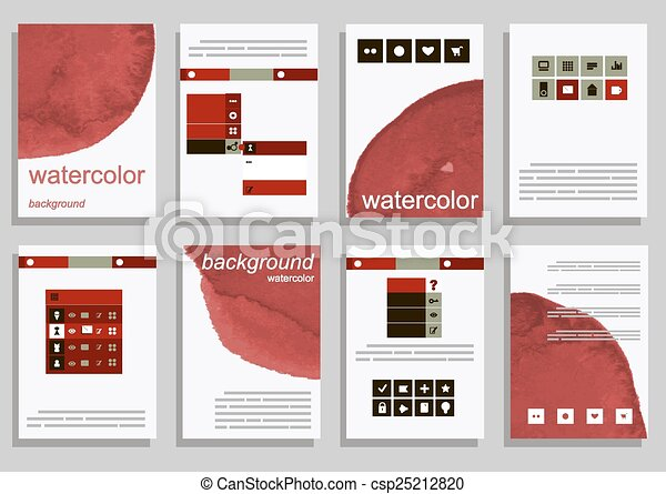 Set of vector poster templates with watercolor paint splash set of vector poster templates with watercolor paint splash abstract background for business documents flyers posters and placards accmission Gallery