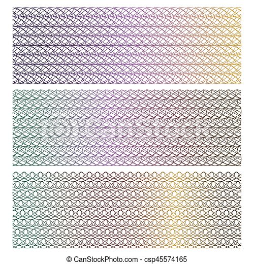 background for certificate, voucher, note, guilloche pattern, - csp45574165