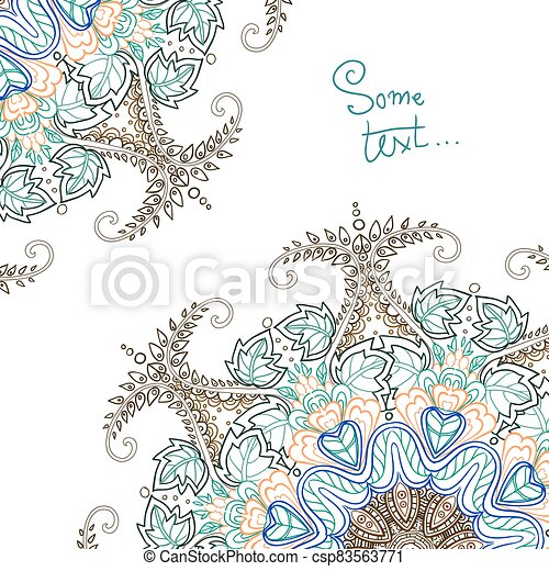 Background for text with floral ornament - csp83563771