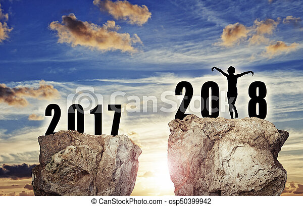 background for the new year 2018 - csp50399942