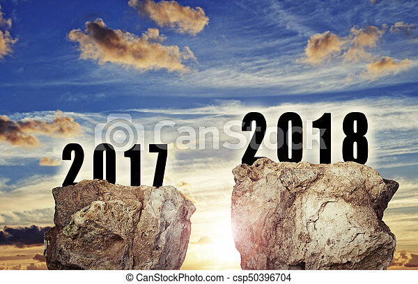 background for the new year 2018 - csp50396704