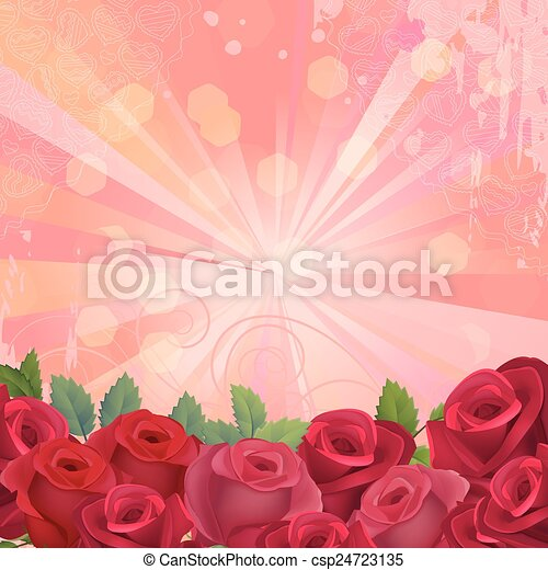 Background frame with flowers - csp24723135