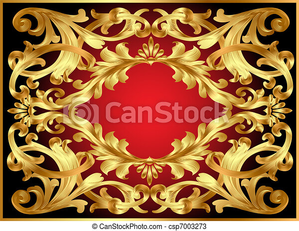 background frame with gold  pattern - csp7003273