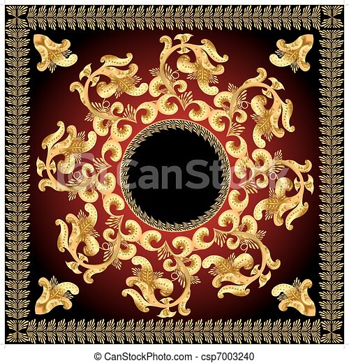 background frame with gold  pattern - csp7003240