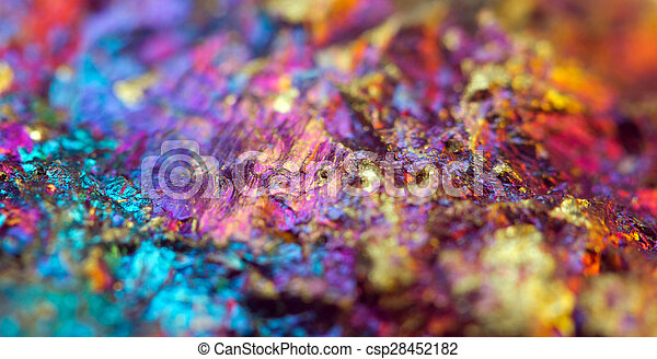 Background from a metal mineral with a crystal. Macro. Photo for your successful business design - csp28452182