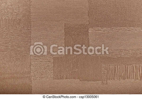 Background from brown coarse canvas texture - csp13005061
