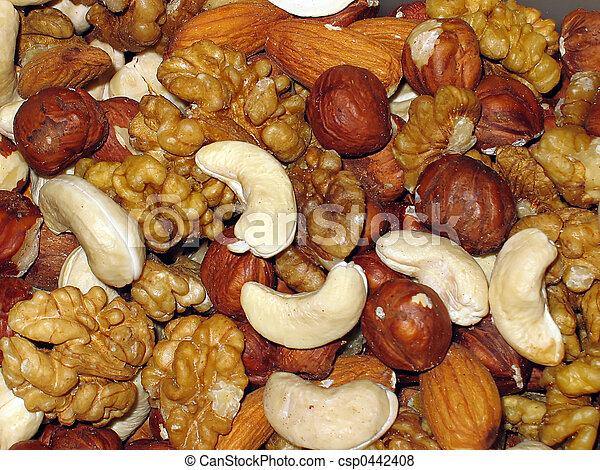 Background from nuts - csp0442408