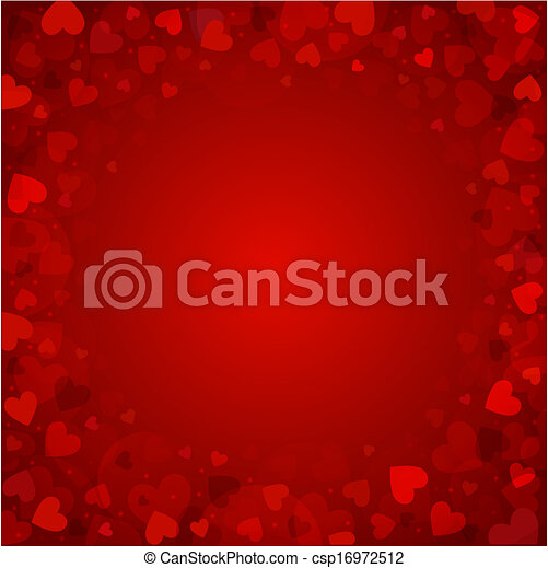 Background from red hearts - csp16972512