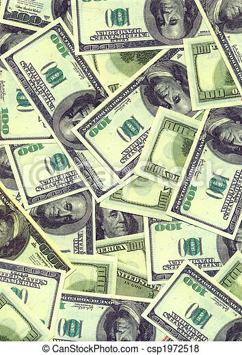Background from the American one hundreds dollars denominations - csp1972518