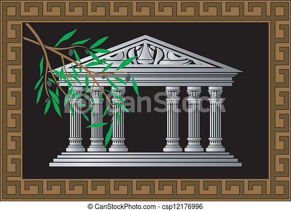 background greek temple - csp12176996