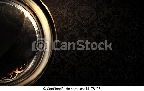 Background horizontal black - csp14178125
