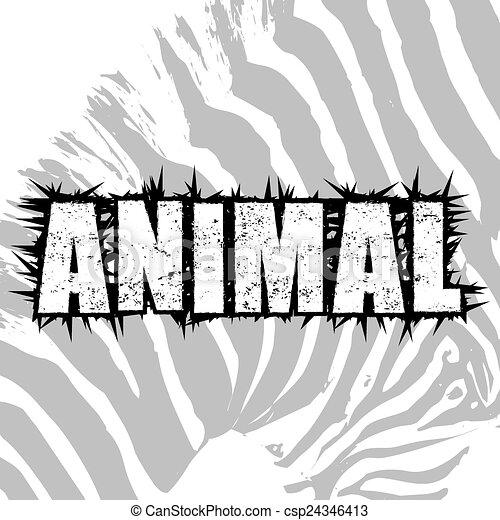 Background Illustration Of Zebra Animal Print