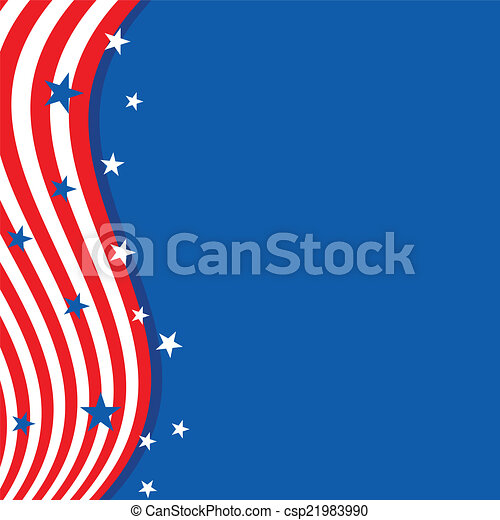 Background in colors of the American flag. - csp21983990