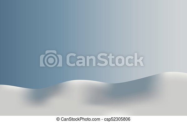 Background landscape in snow - csp52305806