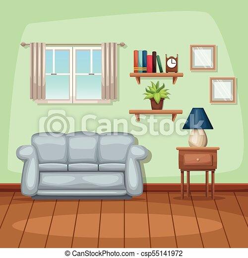 Background Living Room Home Scene