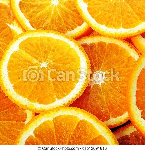 background made of juicy oranges - csp12891616