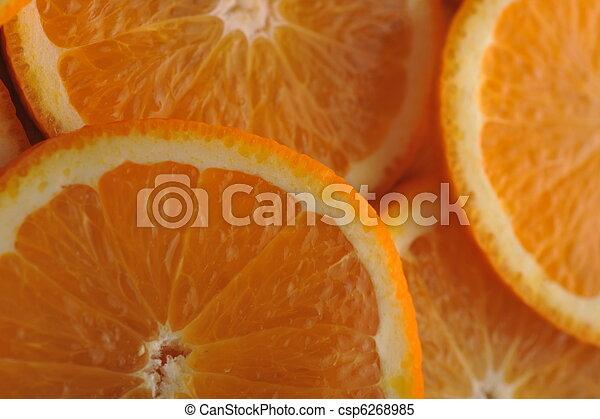 background made of juicy oranges - csp6268985