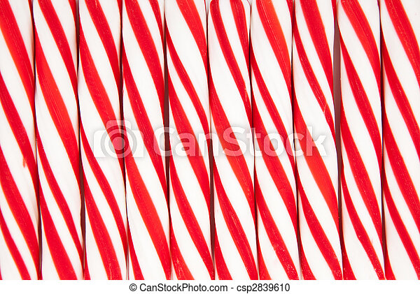 Background made of red and white candy canes - csp2839610