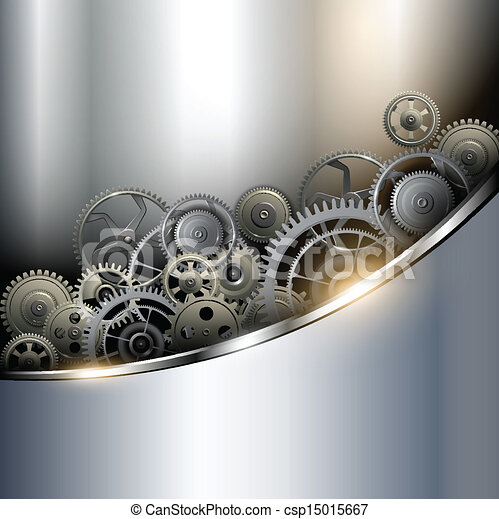 background metallic with technology gears vector illustration