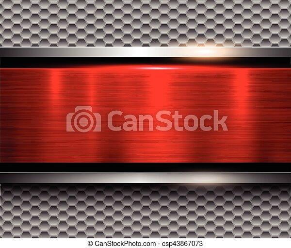 Background metallic silver red - csp43867073