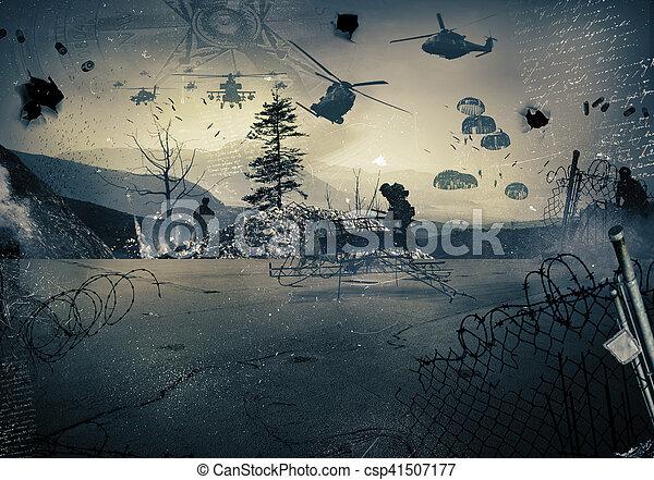 Background of a war - csp41507177