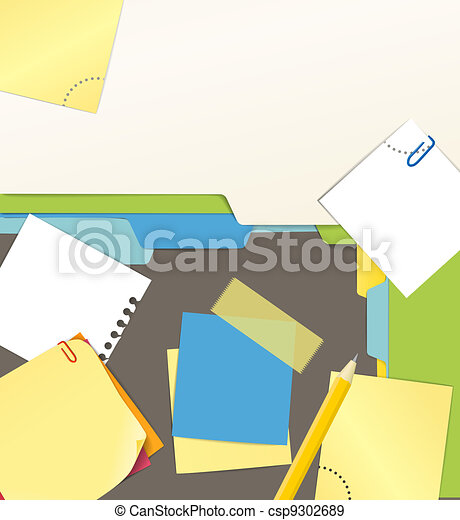 Background of an office stuff - csp9302689