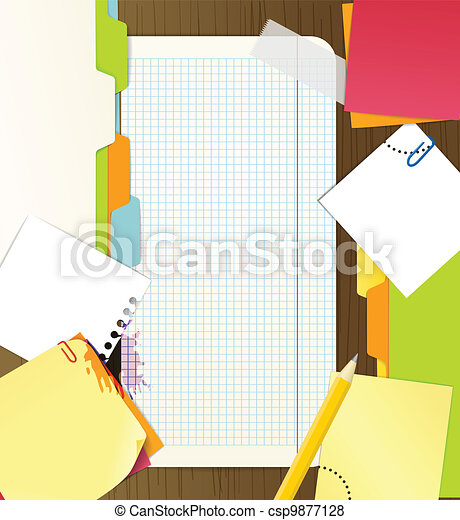 Background of an office stuff - csp9877128