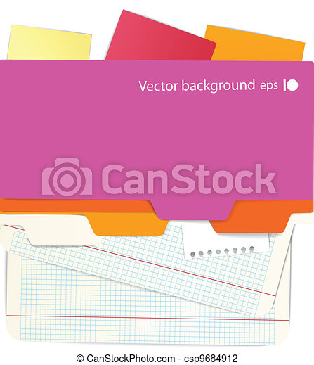 Background of an office stuff - csp9684912