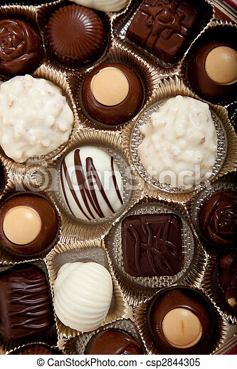 Background of assorted candy chocolates - csp2844305