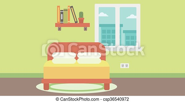 Background Of Bedroom Background Of Bedroom Vector Flat Design