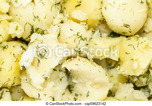 Background of boiled potatoes - csp59623142